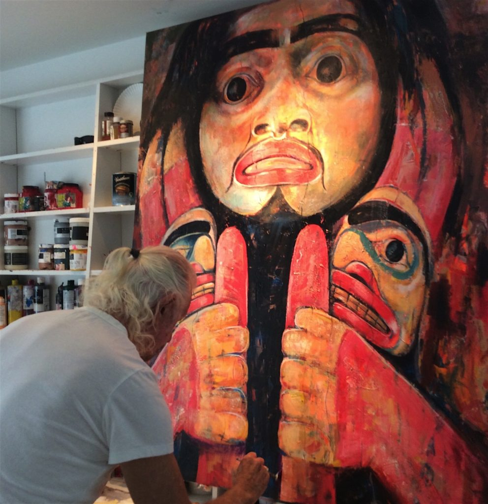 native-totem-poles-by-artist-paul-ygartua-in-studio-992x1024