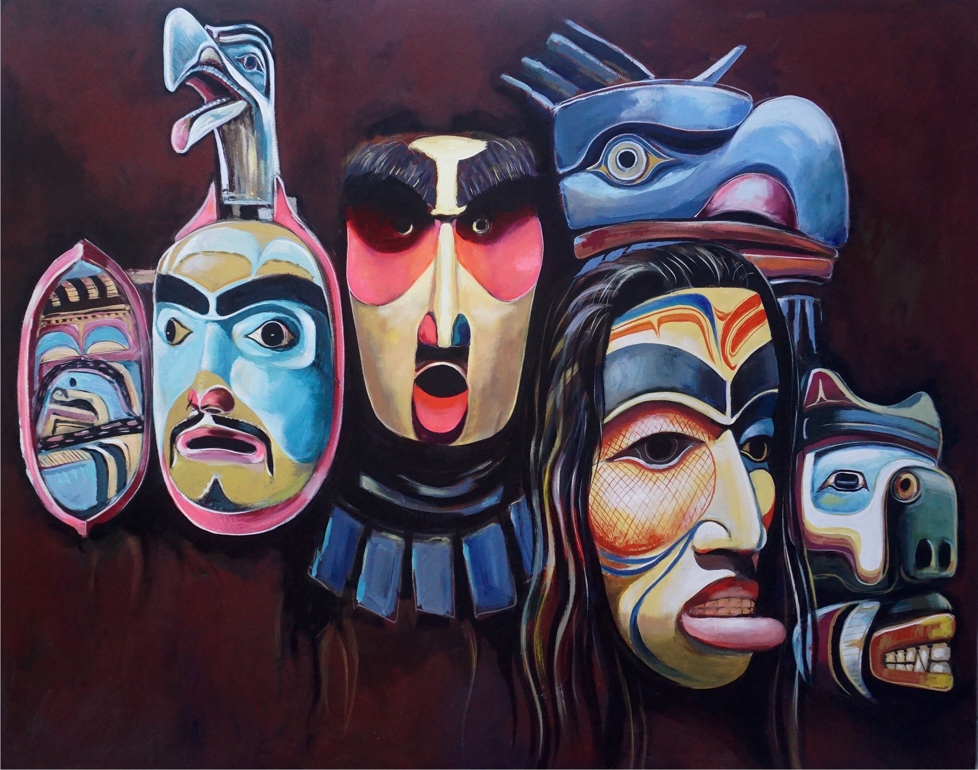 west-coast-native-masks-paul-ygartua-in-vancouver-gallery