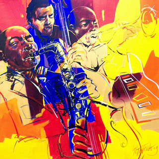 Jazz Art lively colours by Vancouver artist