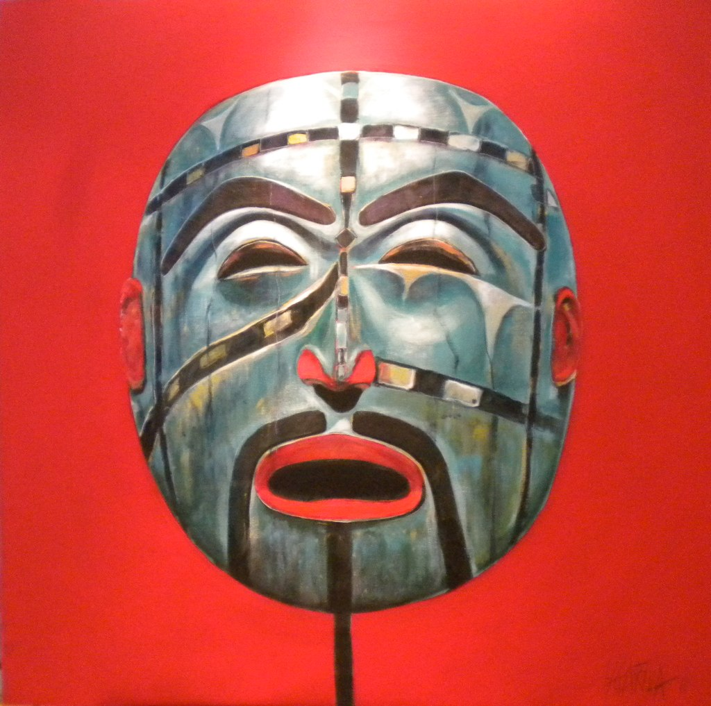 West Coast painting of Native mask by Vancouver artist