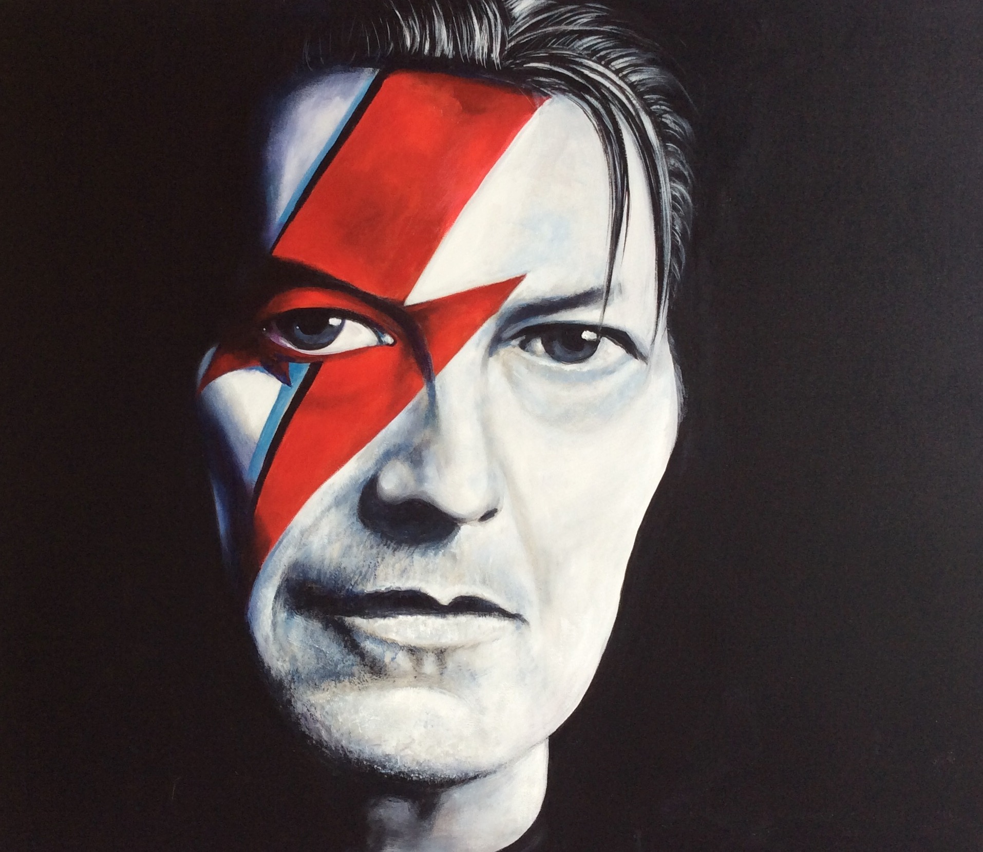 Portrait of David Bowie by Paul Ygartua