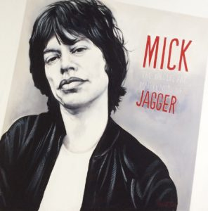 Music Icon painting of Mick Jagger by Paul Ygartua