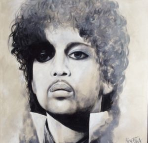 Music entertainer Prince portrait by artist Paul Ygartua
