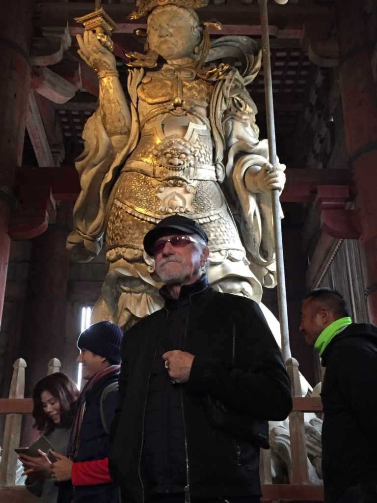 Artist Paul Ygartua in Nara Japan