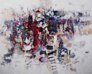 Paul Ygartua circular textured abstract painting