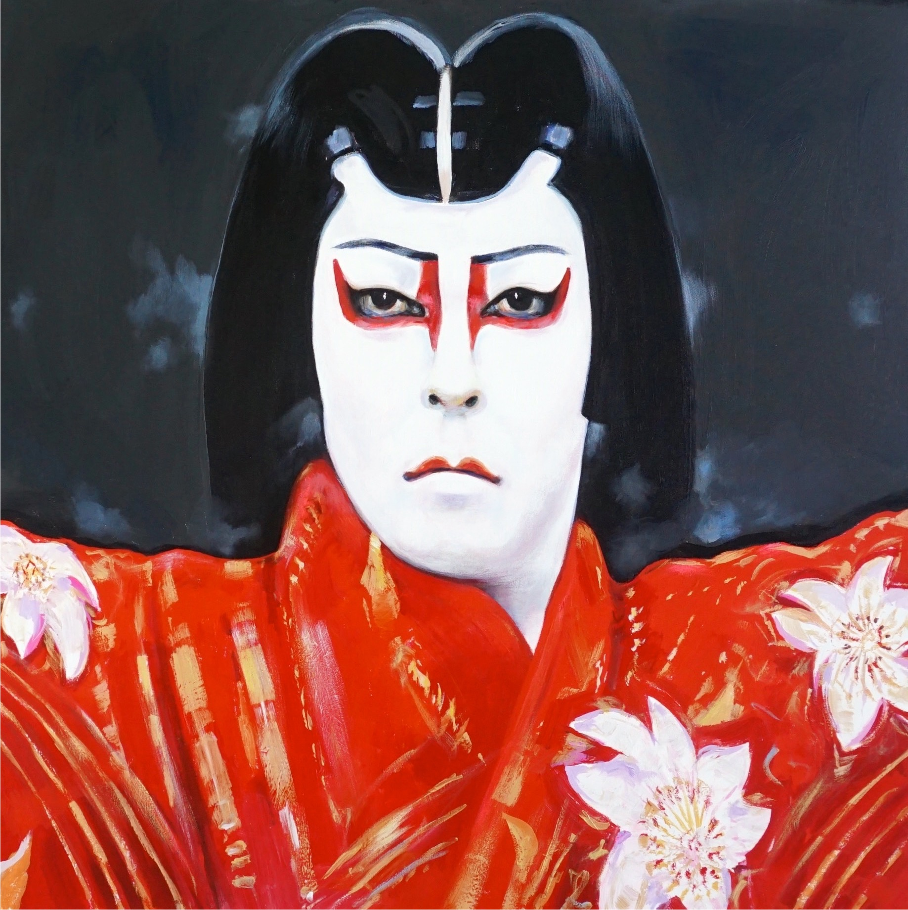 Kabuki entertainer painting by Paul Ygartua